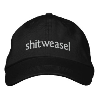 shitweasel embroidered cap