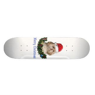 Shitzu christmas gifts 21.6 cm skateboard deck