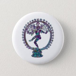 shiva 6 cm round badge