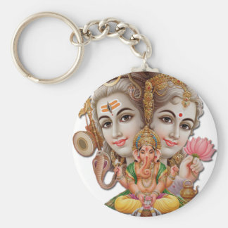 Shiva and family key ring