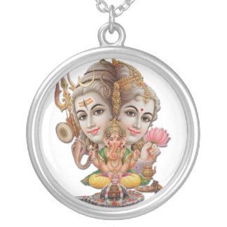 Shiva and family necklace