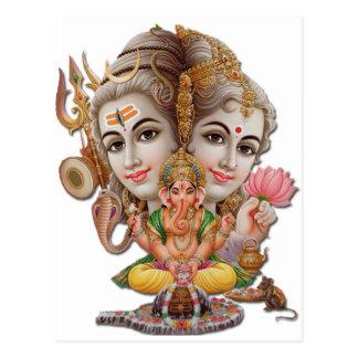 Shiva and family postcard