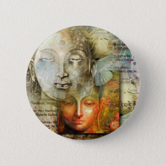 Shiva & Buddha 6 Cm Round Badge