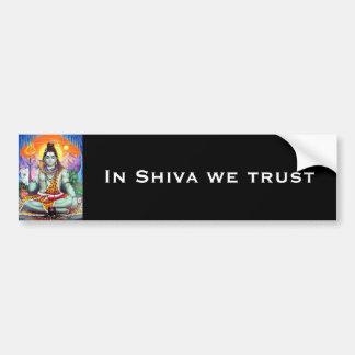 Shiva Bumper Sticker - Version 4