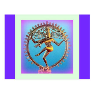 Shiva Dancing in Violet Mysticism by Sharles Postcard