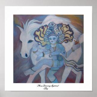 Shiva Dancing Mystical Poster