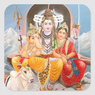 Shiva Family Stickers