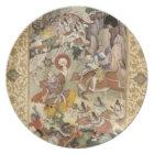 Shiva killing the Demon Andhaka, c.1585-90 Plate