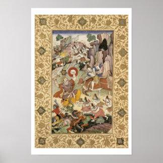 Shiva killing the Demon Andhaka, c.1585-90 Print