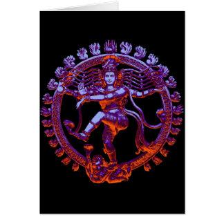 Shiva Nataraja dancing Greeting Card