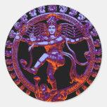 Shiva Nataraja dancing Round Sticker