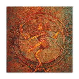 Shiva On Distressed Background Overlay Canvas Print