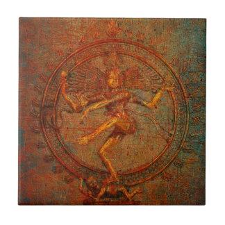 Shiva On Distressed Background Overlay Ceramic Tile