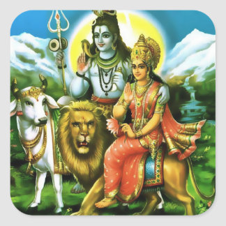Shiva & Parvati Stickers