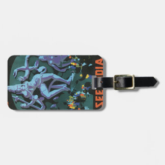 Shiva Statue Painting Luggage Tag