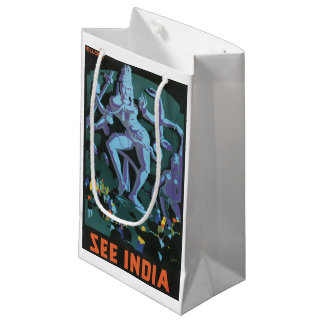 Shiva Statue Painting Small Gift Bag