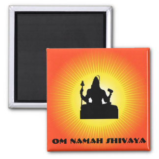 Shiva - The Indian God Square Magnet