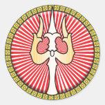 Shiva Trident Icon Round Sticker
