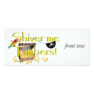 SHIVER ME TIMBERS! - Text w/Pirate Chest 10 Cm X 24 Cm Invitation Card