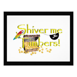 SHIVER ME TIMBERS! - Text w/Pirate Chest Custom Invites
