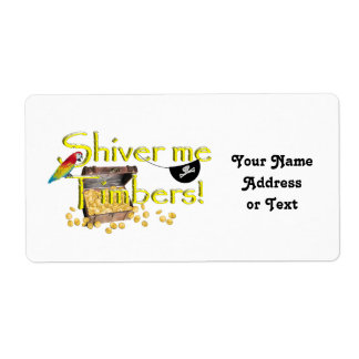 SHIVER ME TIMBERS! - Text w/Pirate Chest Shipping Label
