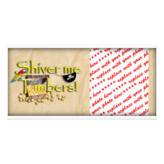 SHIVER ME TIMBERS! Text with Pirate Chest Picture Card
