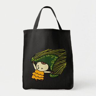 shiyotsupingutoto string child green tote bag