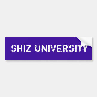 Shiz University Bumper Sticker