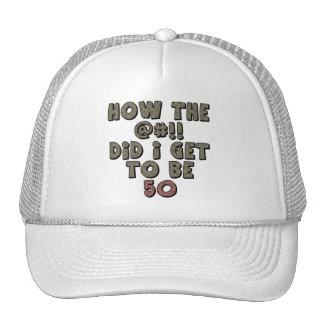 Shocked 50th Birthday Gifts Mesh Hat