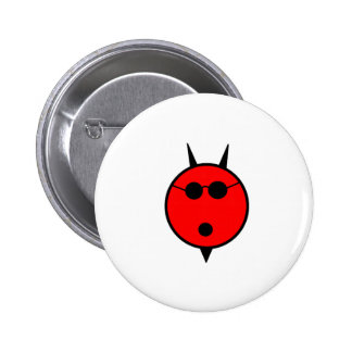 Shocked Devil In Shades Pinback Buttons