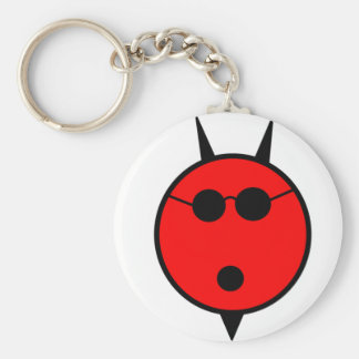 Shocked Devil In Shades Basic Round Button Key Ring
