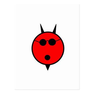 Shocked Devil In Shades Postcard