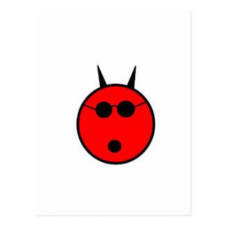 Shocked Devil Postcard