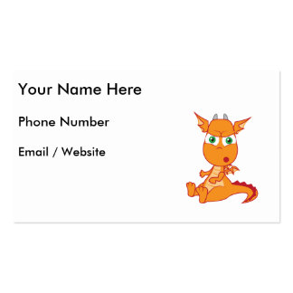 Shocked Dragon Making a Silly Face Business Card Template