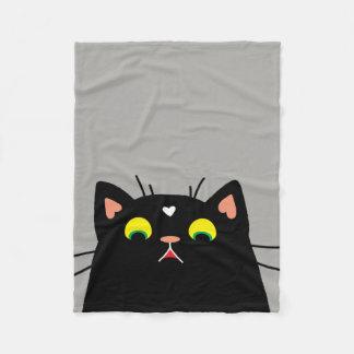 Shocked Kitty Fleece Blanket