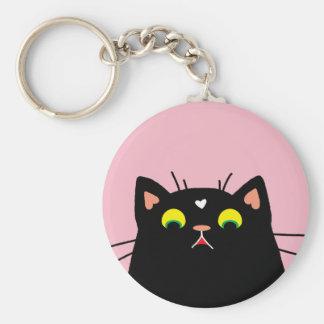 Shocked Kitty Key Ring