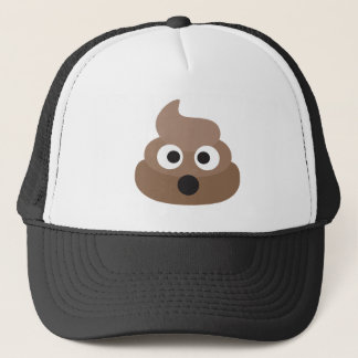 Shocked poop-emoji - Poo cartoon design Trucker Hat