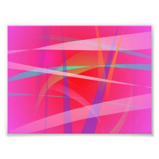 Shocking Pink Abstract Art Photo