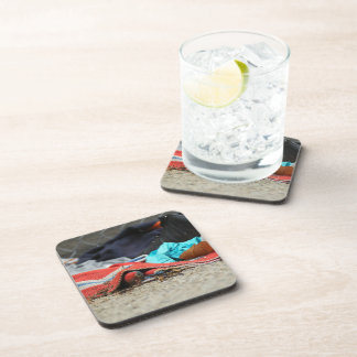 Shoe And Clothing On The Street Beverage Coaster
