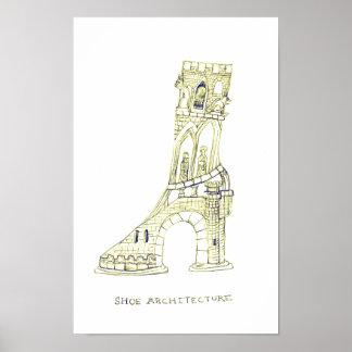 Shoe Architecture Poster (Sepia)