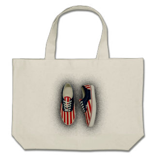 Shoe Bag Red White and Blues USA Flag Bags