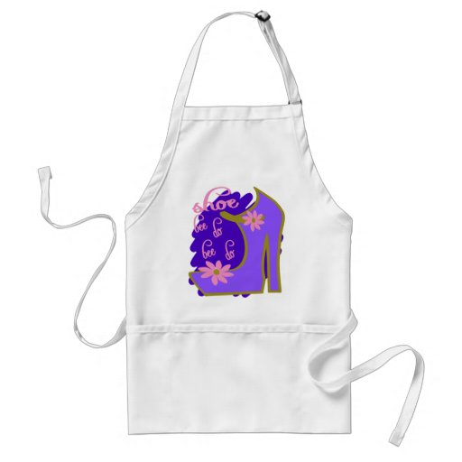 Shoe Bee Do Bee Do With Shoe And Jagged Background Apron
