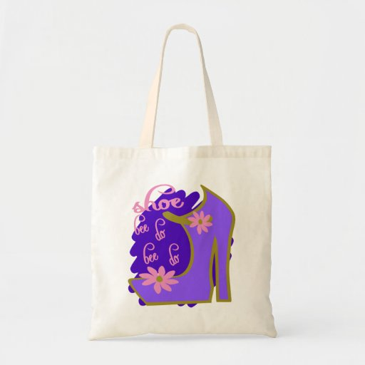 Shoe Bee Do Bee Do With Shoe And Jagged Background Canvas Bag