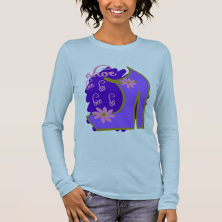 Shoe Bee Do Bee Do With Shoe And Jagged Background Long Sleeve T-Shirt