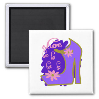 Shoe Bee Do Bee Do With Shoe And Jagged Background Square Magnet