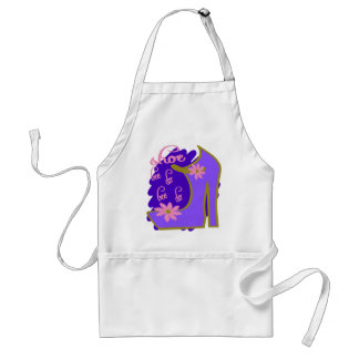 Shoe Bee Do Bee Do With Shoe And Jagged Background Standard Apron