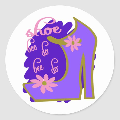 Shoe Bee Do Bee Do With Shoe And Jagged Background Sticker