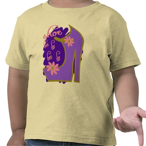 Shoe Bee Do Bee Do With Shoe And Jagged Background Tee Shirts