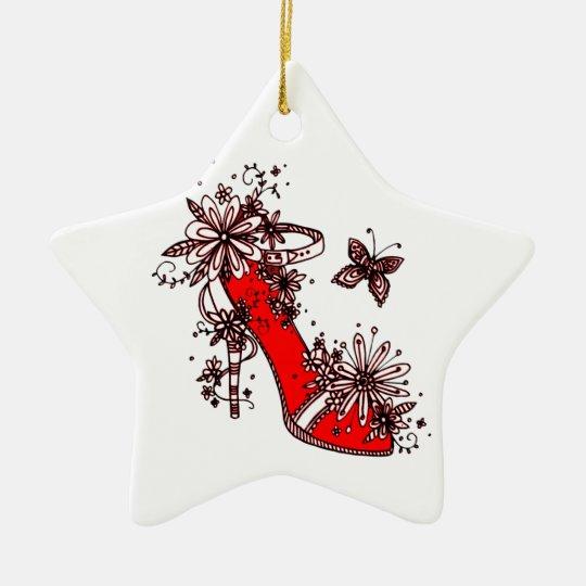 Shoe Ceramic Star Decoration