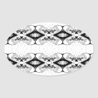 shoe design pattern oval sticker